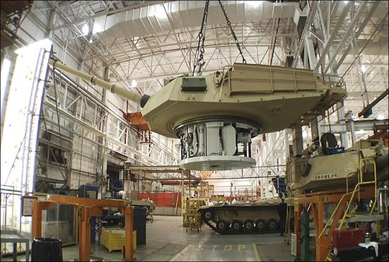 General Dynamics tank manufacture