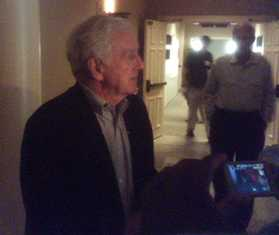 John Seigenthaler, cell phone photo, at the First Amendment Center