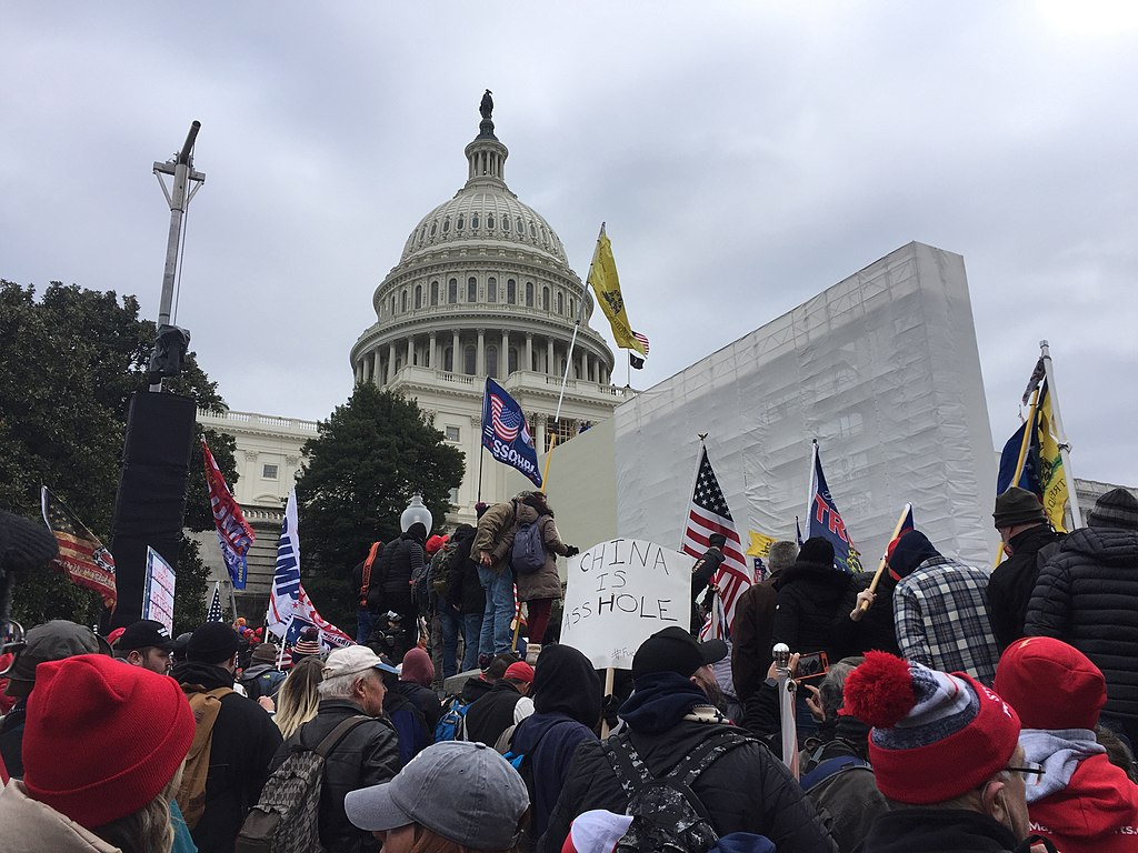 Photo of people during the riot at the Capitol on Wednesday, Jan. 6, 2020. (Photo by Reddit user TapTheForwardAssist, used via Creative Commons license.)